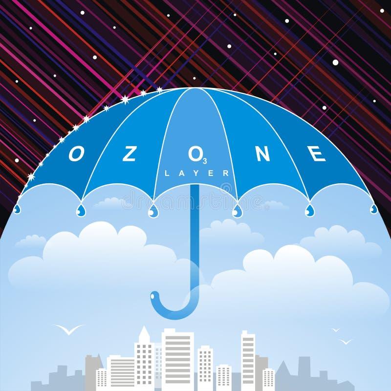 Ozonlager royaltyfri illustrationer