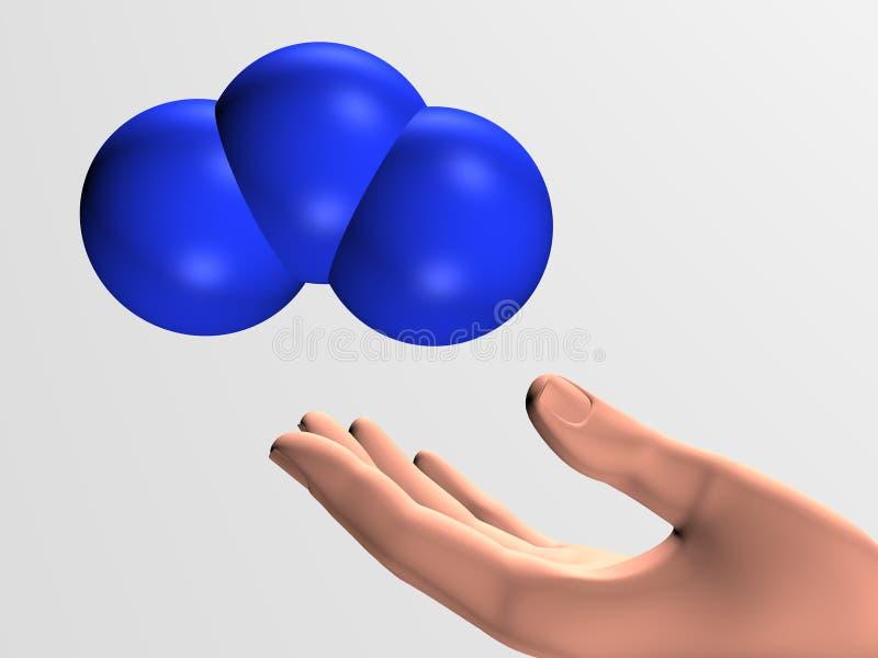 Ozonmolekyl vektor illustrationer