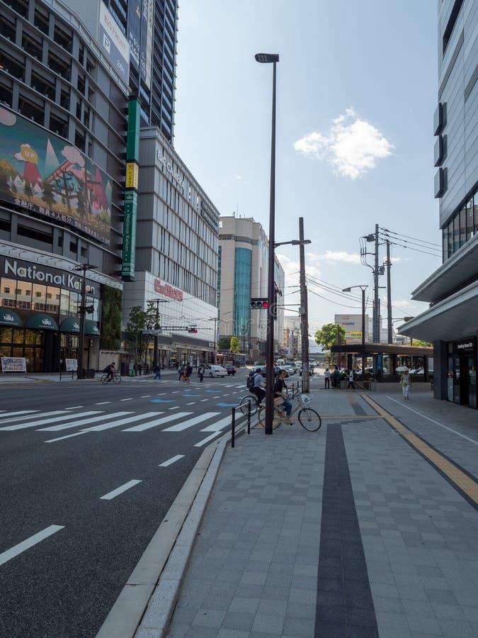 Ozu Dori aleja, Hiroszima, Japonia obrazy stock