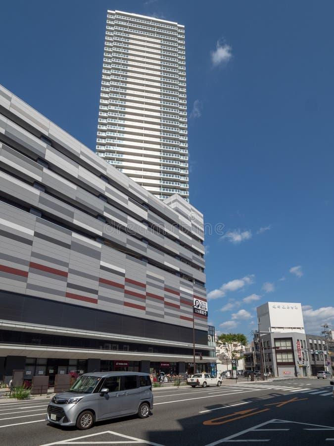 Ozu Dori aleja, Hiroszima, Japonia zdjęcie stock