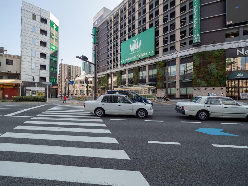 Ozu Dori aleja, Hiroszima, Japonia obraz royalty free