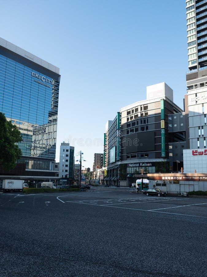 Ozu Dori aleja, Hiroszima, Japonia zdjęcia stock