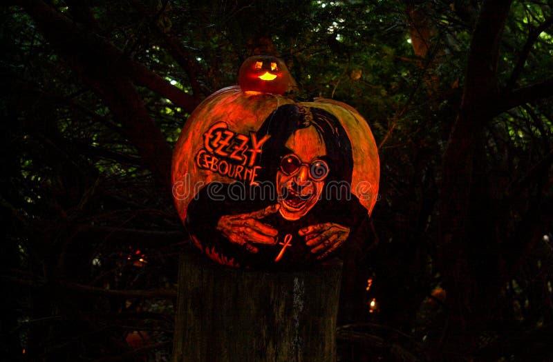 Ozzy Osbourne, χαρασμένος φόρος κολοκύθας στοκ φωτογραφία με δικαίωμα ελεύθερης χρήσης