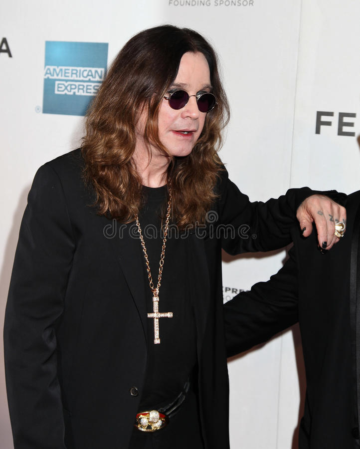 Ozzy Osbourne. Attends the premiere of 'Good Bless ' during the 2011 Tribeca Film Festival at BMCC Tribeca PAC New York City. 04/ 22/ 11 royalty free stock images