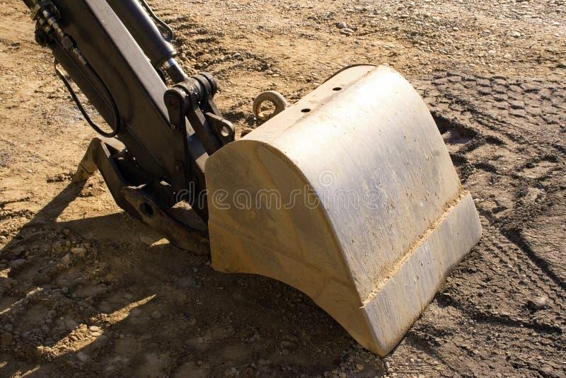 Pá #1 da máquina escavadora imagens de stock