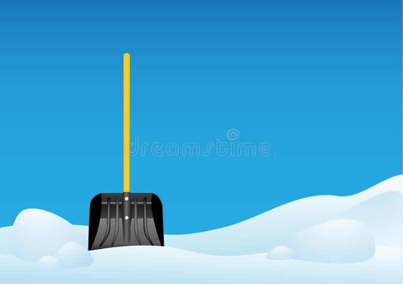 Pá da neve ilustração royalty free