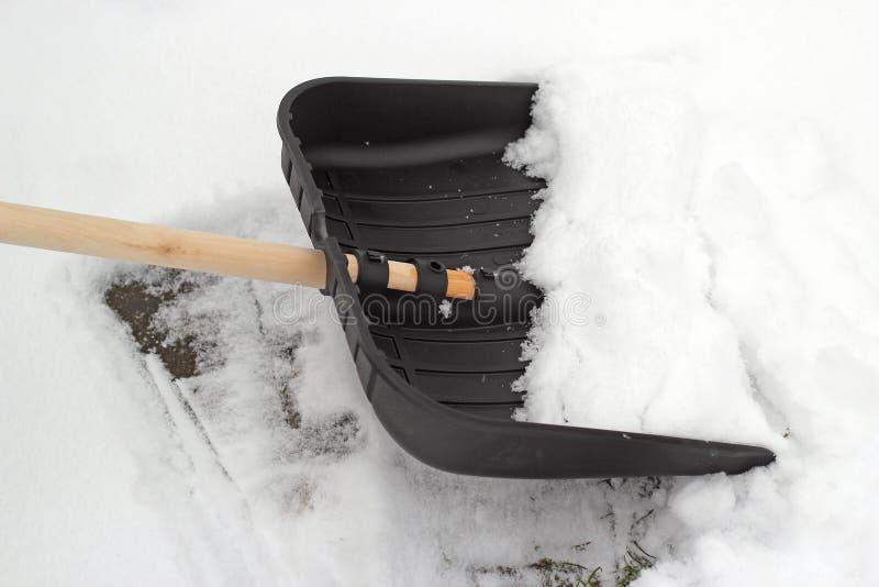 Pá da neve. foto de stock royalty free