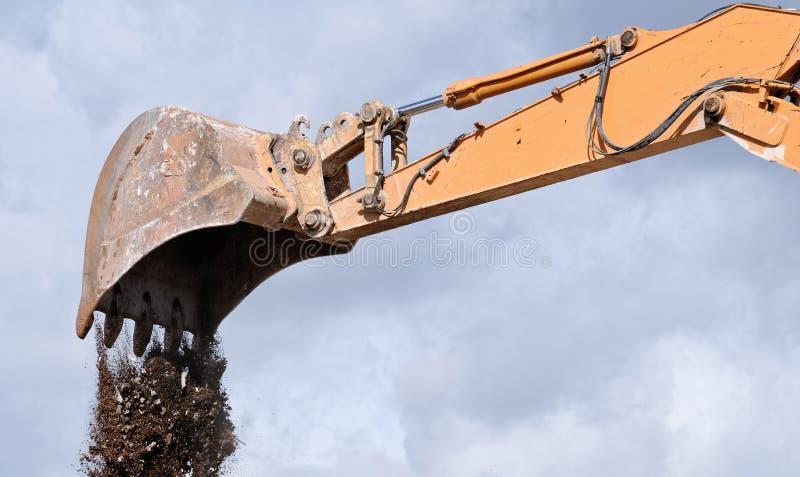 Pá do escavador imagens de stock royalty free