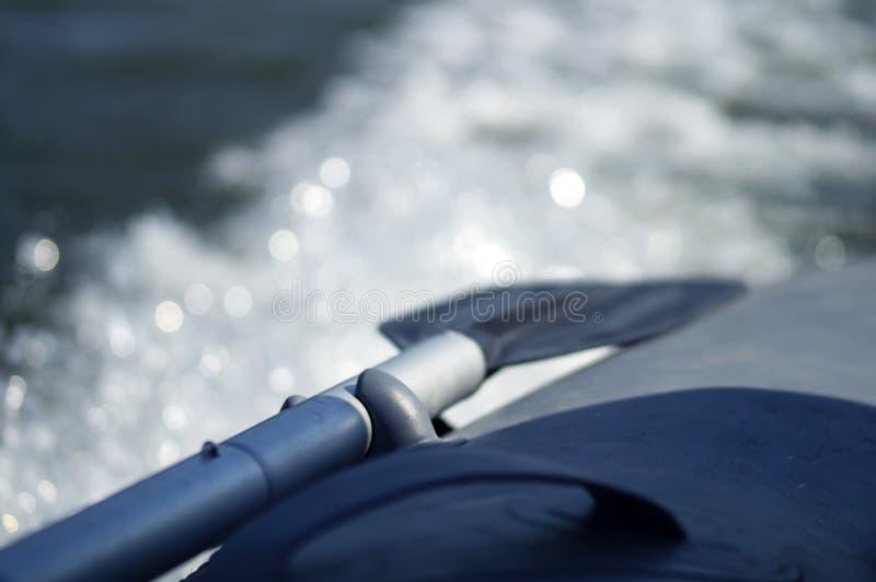 Pá inflável do barco imagem de stock royalty free