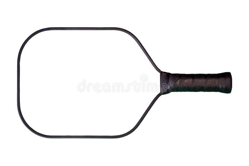Pá preta & branca de Pickleball fotografia de stock