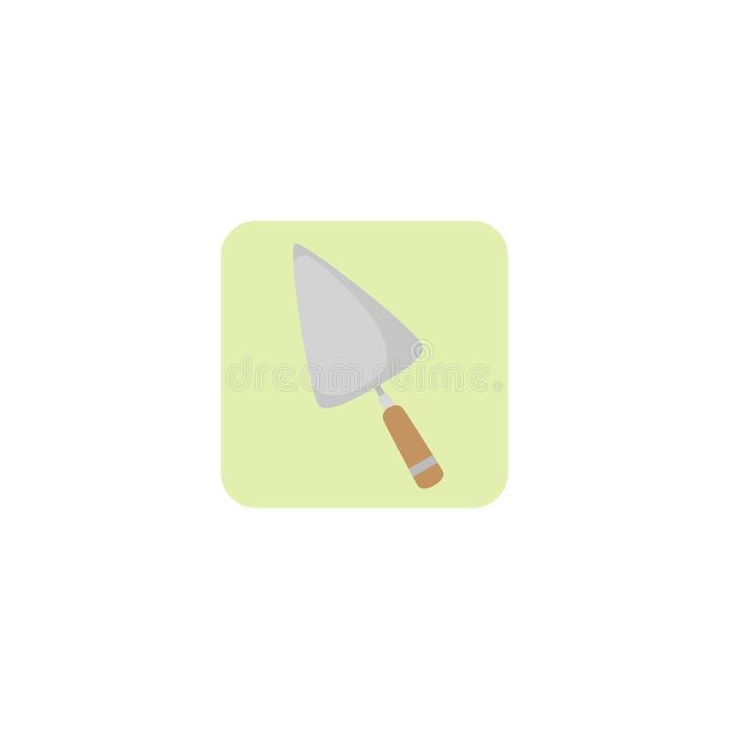 Pá triangular para o reparo, concreto, ícone Ilustração do vetor Eps 10 ilustração stock