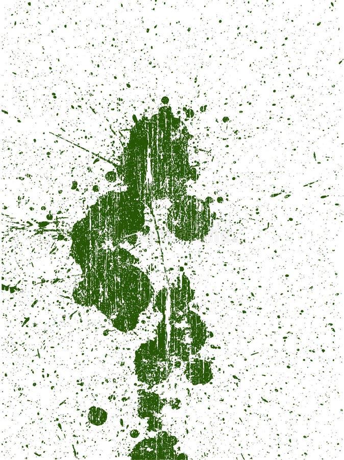 Págiana inteira do grunge Splats 2 ilustração do vetor