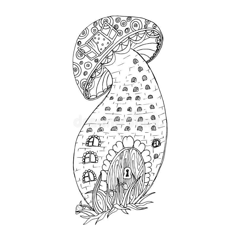 Página adulta do livro para colorir, ilustração de tinta preta ilustração royalty free