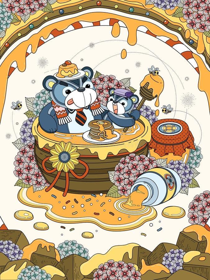 Página adulta preciosa del colorante libre illustration