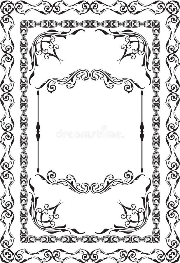 A página agradável barroco do cumprimento ilustração royalty free