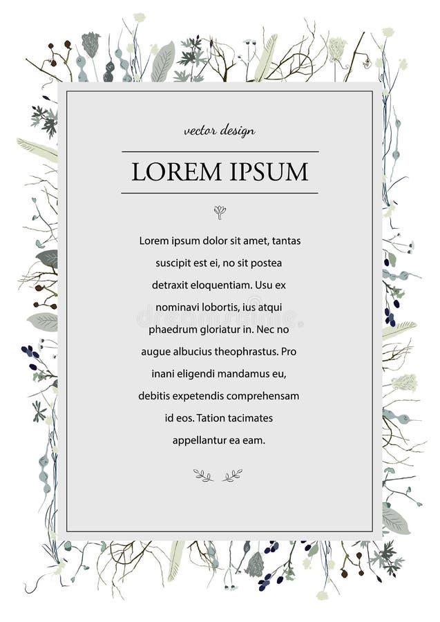 Página azul de la decoración de la flor foto de archivo libre de regalías