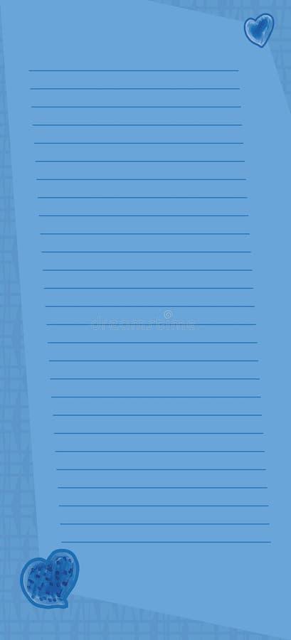 Página azul linda de la nota