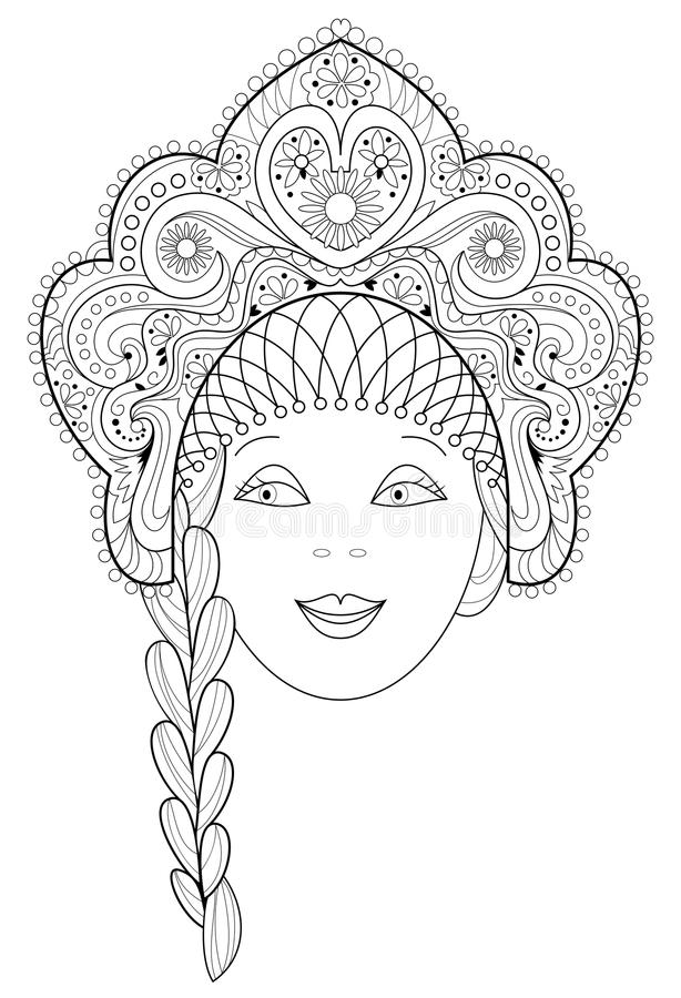 Página Blanco Y Negro Para Colorear Dibujo De La Fantasía De