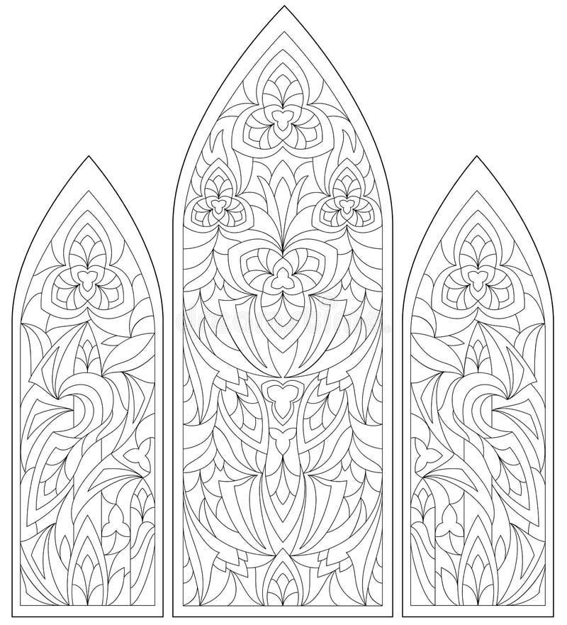 Vitrales Góticos Del Vector Ilustración Del Vector