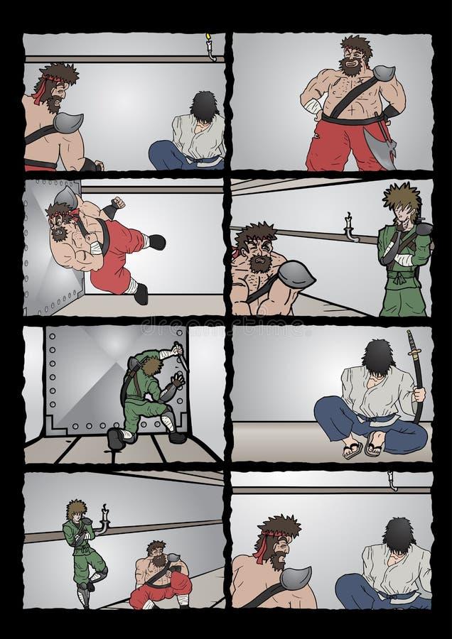 Página cômica ilustração do vetor