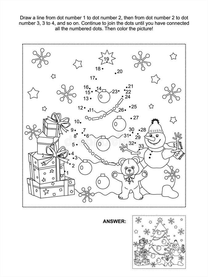 página da atividade do Ponto-à-ponto ilustração stock