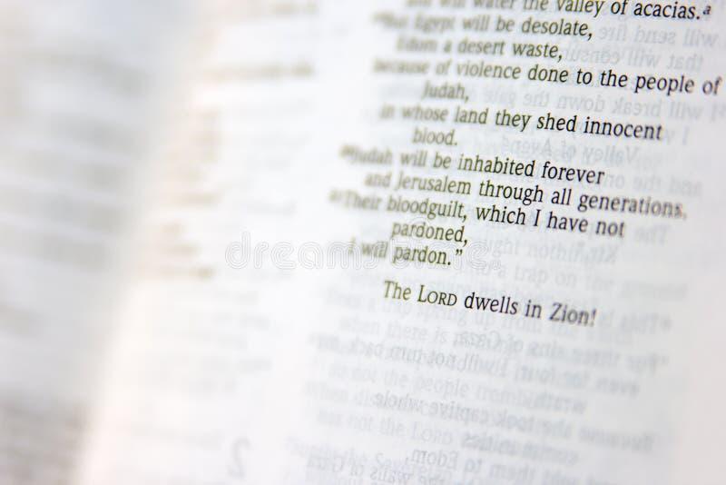 Página da Bíblia fotos de stock royalty free