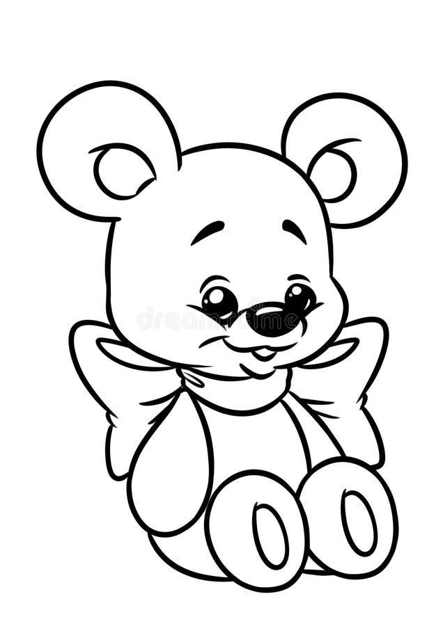 Página da coloração do brinquedo do urso ilustração stock
