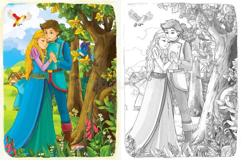 A página da coloração do esboço com estreia - estilo artístico - ilustração para as crianças ilustração do vetor