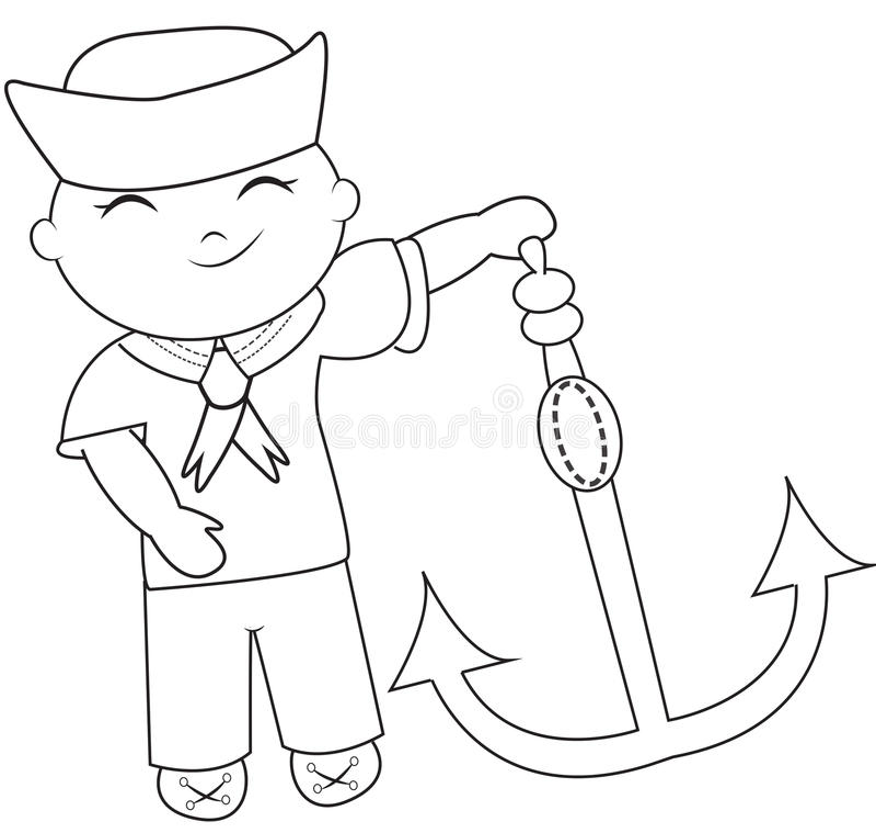 Pagina Da Coloracao Do Marinheiro Ilustracao Stock Ilustracao De
