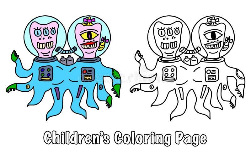 Página da coloração para crianças ilustração stock