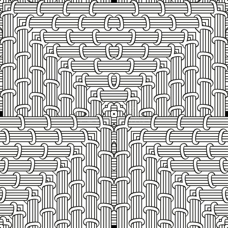 Página da coloração Zendoodle sem emenda para a arte, livro para colorir do teste padrão, zendoodle Zentangle quadrado para págin ilustração do vetor