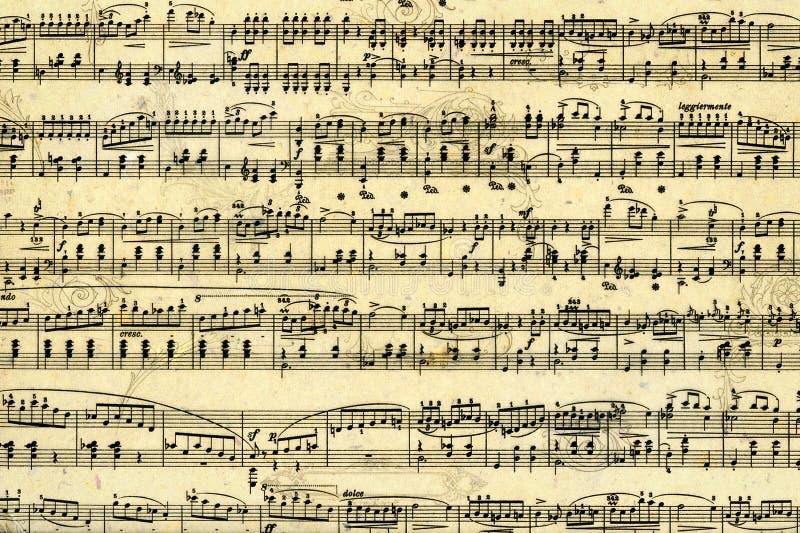 Página da folha de música ilustração do vetor