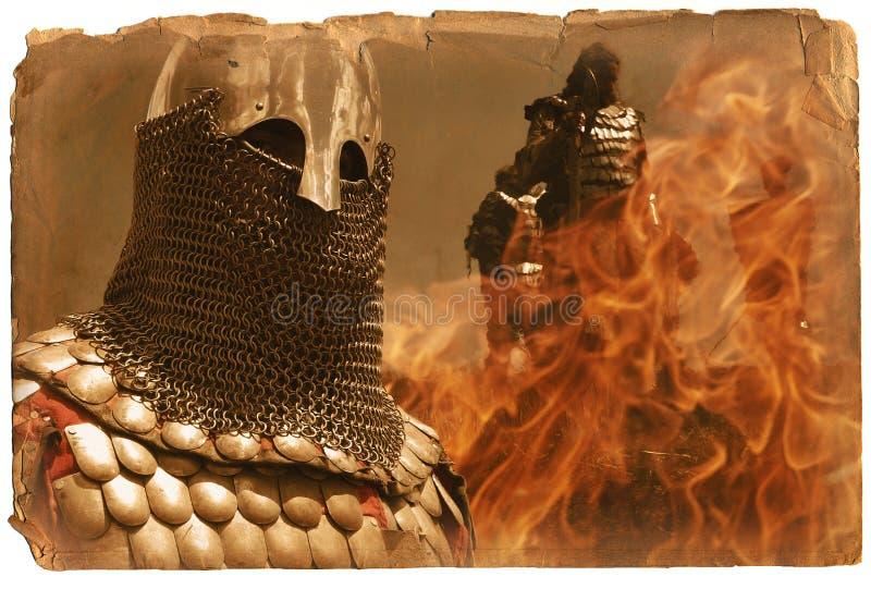 Página da História de Europa medieval imagem de stock