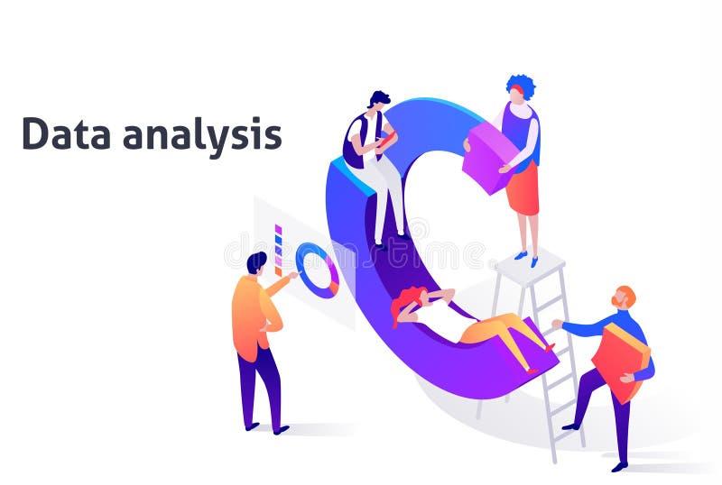 Página da ilustração da tecnologia da análise do impulso do negócio ilustração royalty free