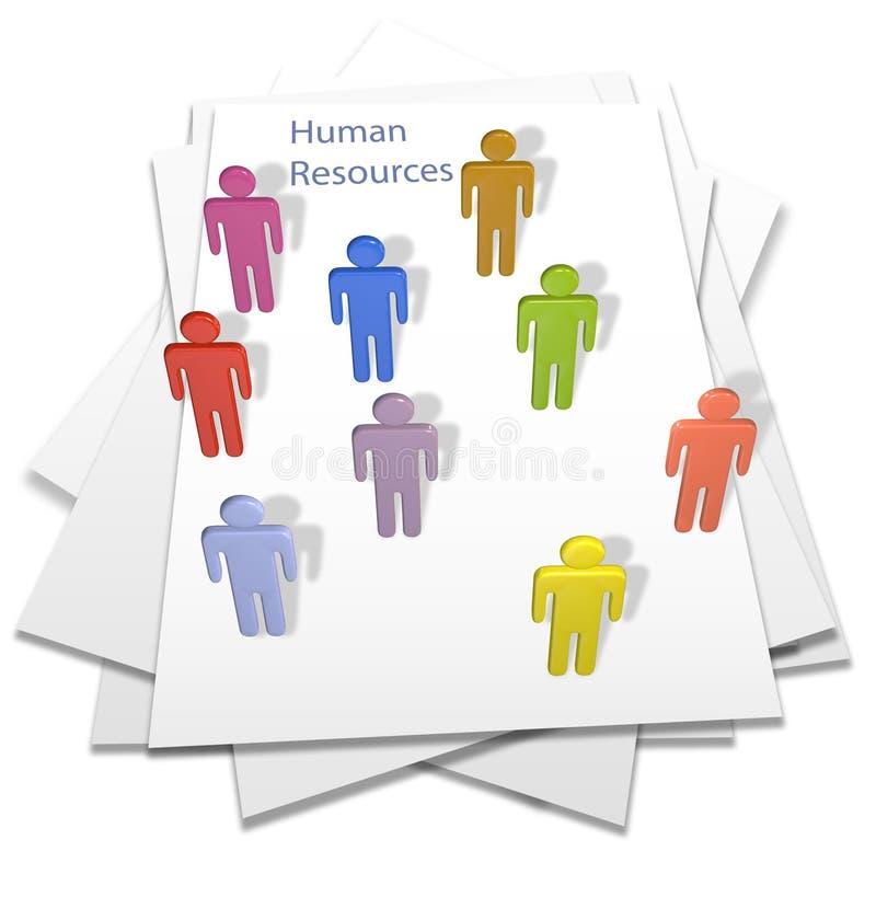 Página da letra de negócio dos povos dos recursos humanos ilustração do vetor
