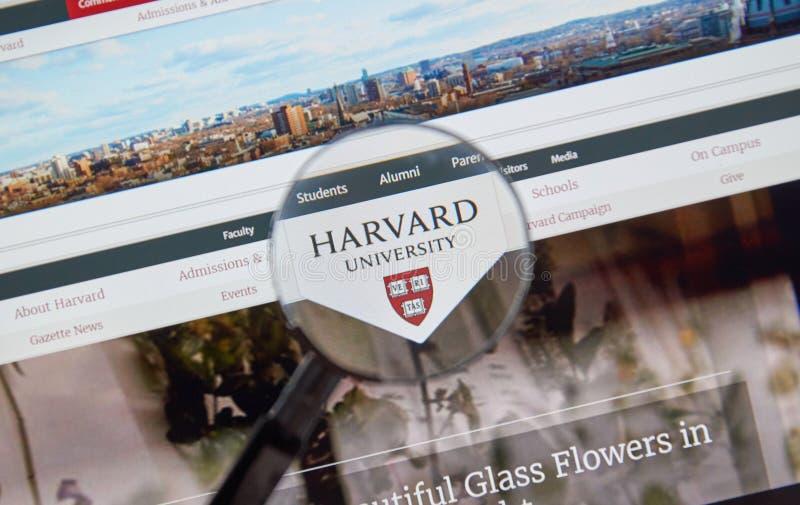 Página da Universidade de Harvard foto de stock