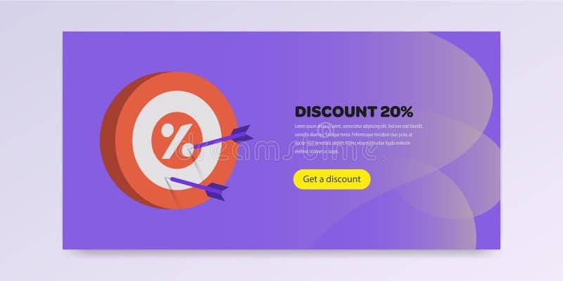 Página de aterrizaje con el ejemplo del vector de la promoción completamente libre illustration