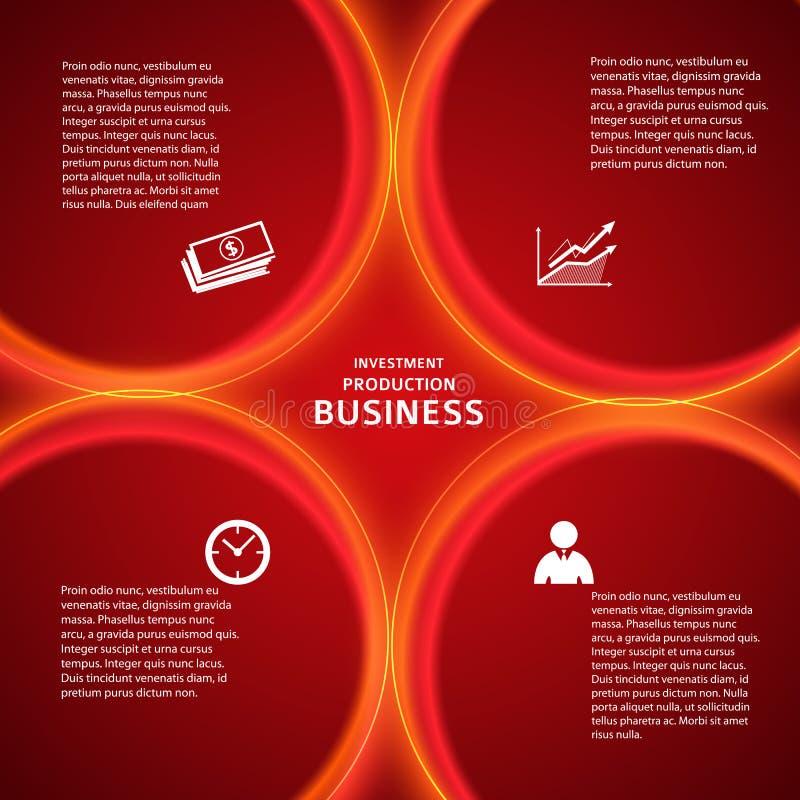 Página de cubierta roja del fondo de la plantilla de las actividades bancarias stock de ilustración