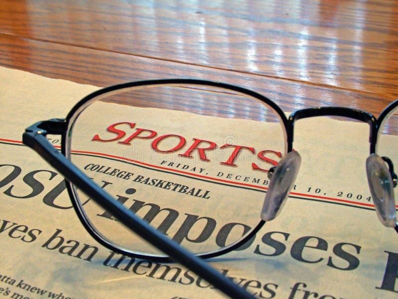 Página de esportes fotografia de stock royalty free