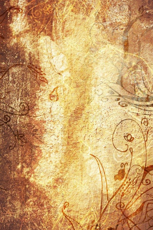 Página de Grunge com textura e d ilustração stock