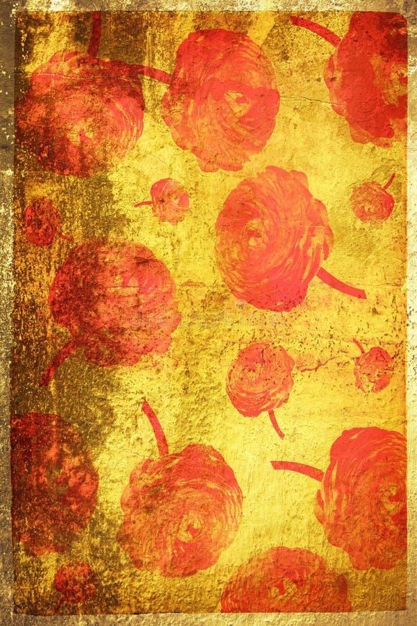 Página de Grunge com textura e f ilustração stock