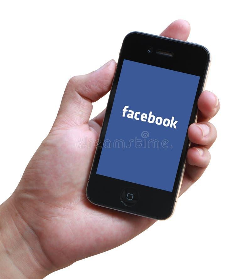 Página de inicio de sesión de Facebook en el iPhone de Apple imagenes de archivo