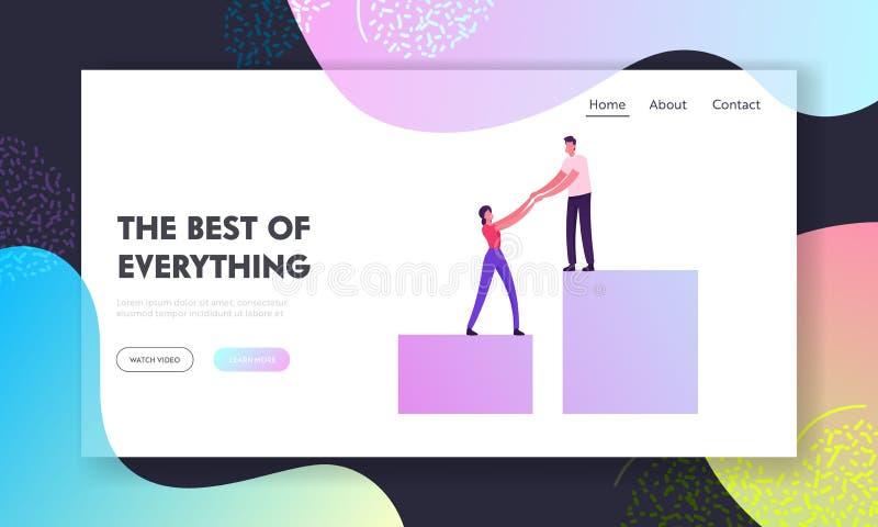 Página de inicio del sitio web sobre rendimiento profesional, inversión y liderazgo exitoso Gráfico de columnas de escalado de eq libre illustration