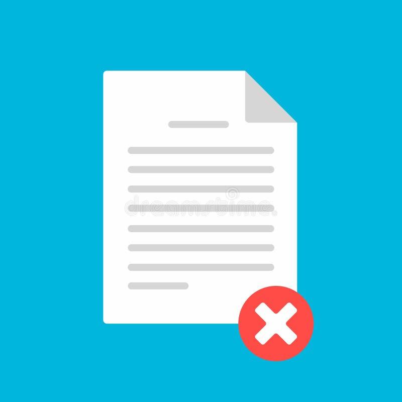 Página de la hoja del papel del documento con la forma de demanda, cruz de la marca de verificación, ejemplo del vector de la mue libre illustration