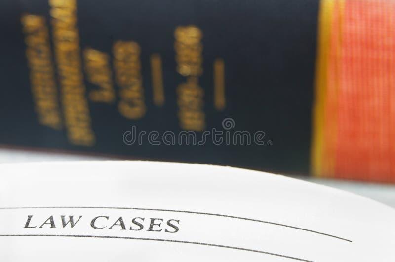 Página de los casos juzgados fotografía de archivo