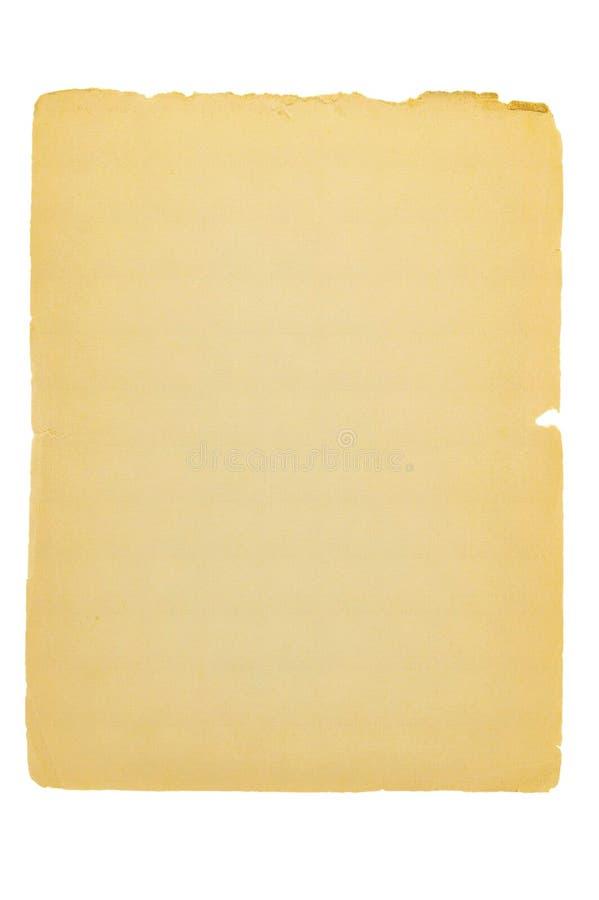Página de papel velha com bordas rasgadas imagem de stock royalty free