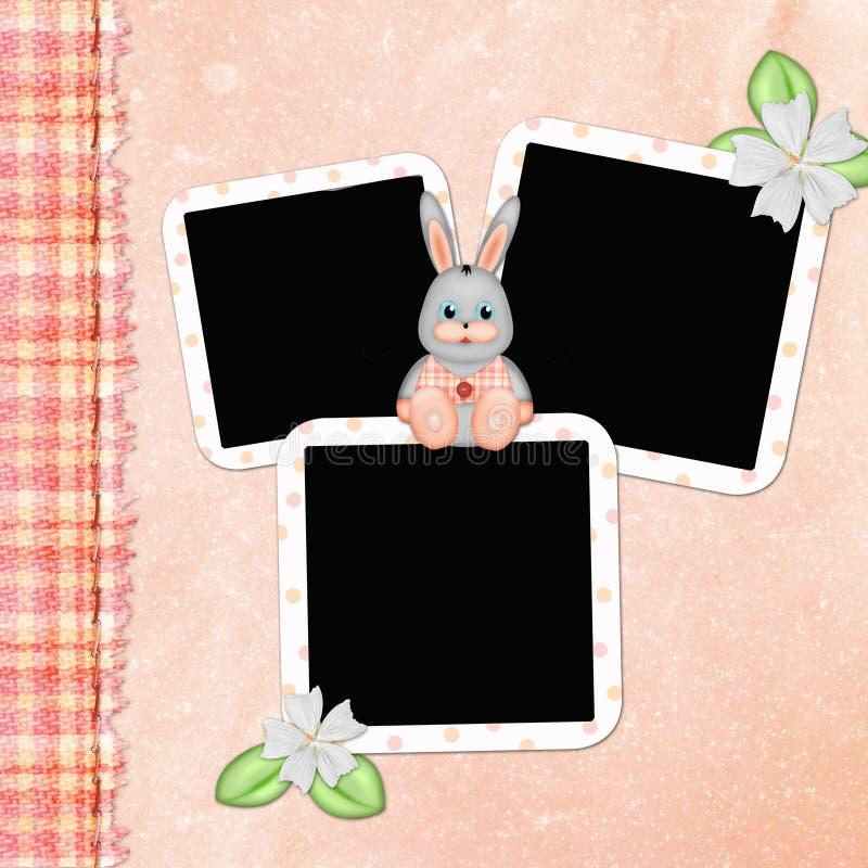 Página de tampa para o álbum do bebê ilustração stock