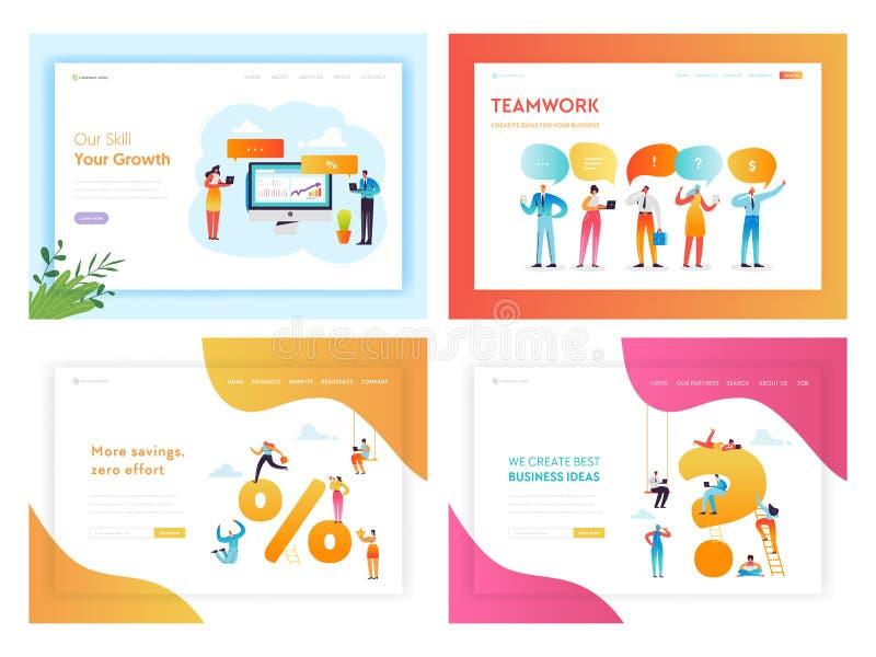 Página del aterrizaje del concepto de la innovación de las soluciones del negocio libre illustration