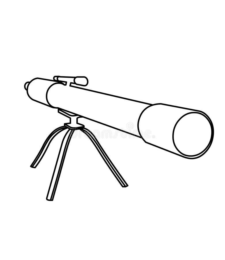 Página del colorante del telescopio stock de ilustración