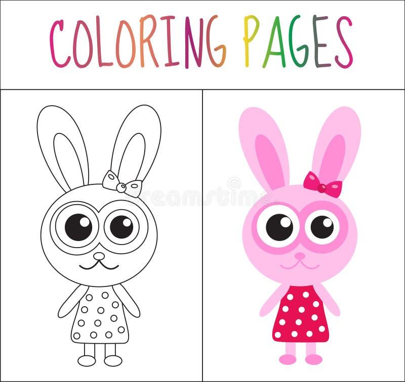 Página Del Libro De Colorear Conejito, Conejo Versión Del Bosquejo Y ...